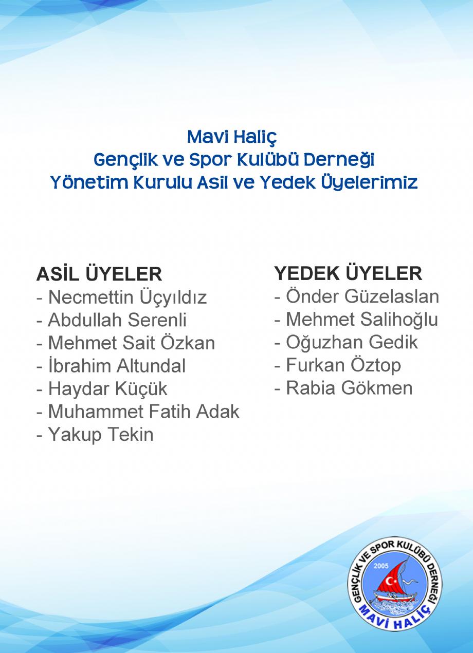 YÖNETİM - MAVİ HALİÇ Gençlik ve Spor Kulübü Derneği | Mavi Haliç